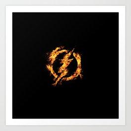 The Fire Flash Art Print