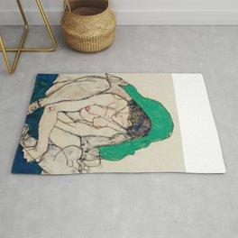 "Egon Schiele ""Crouching Woman with Green Headscarf"" Rug"