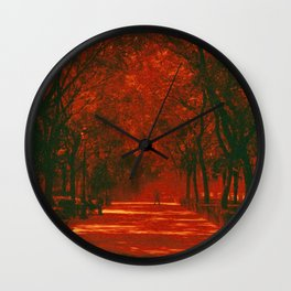 Red afternoon Wall Clock