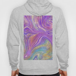 Fuchsia, green and teal abstract Hoody
