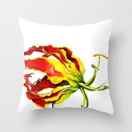 Gloriosa Lily Throw Pillow
