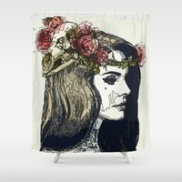 lana Shower Curtains featuring Lana ART by Maioriz Home