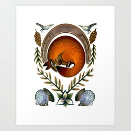 The Fox Lay Dying Art Print