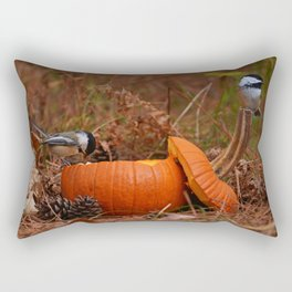 A Chickadee Thanksgiving Rectangular Pillow