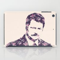 ron swanson iPad Cases featuring Ron Swanson by MisfitKismet Designs