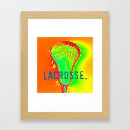 LACROSSE. ORANGE Framed Art Print