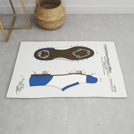 Baseball Cleat Patent Rug
