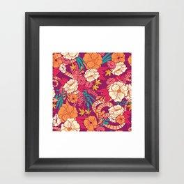 Jungle Pattern 002 Framed Art Print