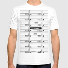 Mailbox Lotto White MEDIUM Mens Fitted Tee