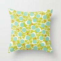 candy Throw Pillows featuring candy by ottomanbrim