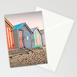 Beach Huts, Brighton Beach, Melbourne, Australia Stationery Cards