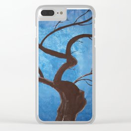 Pregnant Tree Clear iPhone Case