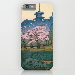 Yoshida Hiroshi - Cherry Blossoms 8scenes, Sankeien Garden - Digital Remastered Edition iPhone Case