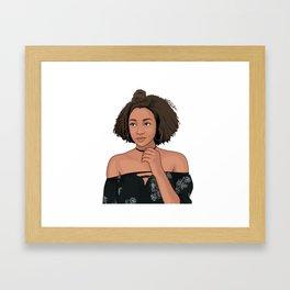 College Beauty Framed Art Print