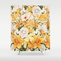Wordsworth  and daffodils. Shower Curtain