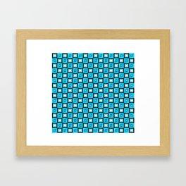 Pattern Cube Blue Framed Art Print