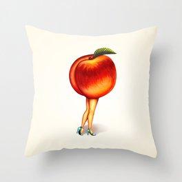 Peach Girl Throw Pillow