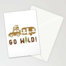Camping Go Wild Stationery Cards