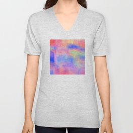 Where There's Life, There's Hope: Abstract Design Unisex V-Neck
