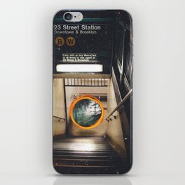 New York City Subway Portal to the Forest iPhone Skin