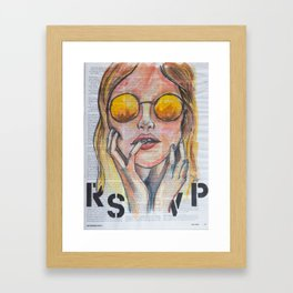 RSVP Framed Art Print
