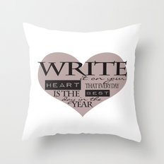 Write It On Your Heart Design Throw Pillow