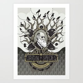 On the Origin of Species Art Print