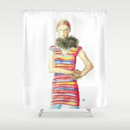 Striped Dress Shower Curtain