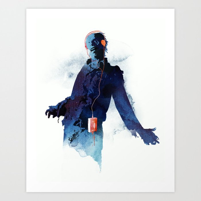The Walkman Dead Art Print