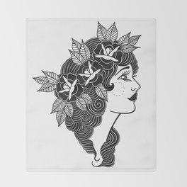 Pinup Profile Throw Blanket