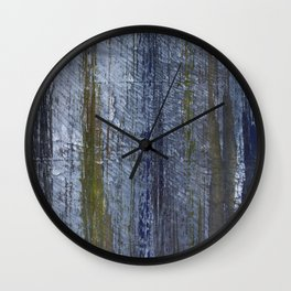 Gray abstract painting Wall Clock