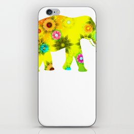 Beautiful Flower Elephant Gift iPhone Skin
