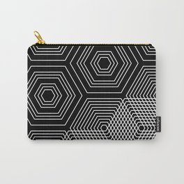 HEXAMANIA Black & White Carry-All Pouch