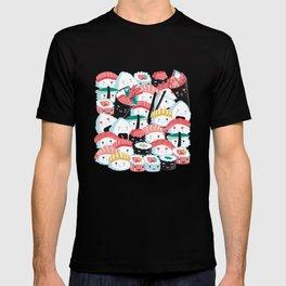 Kawaii Sushi Crowd T-shirt
