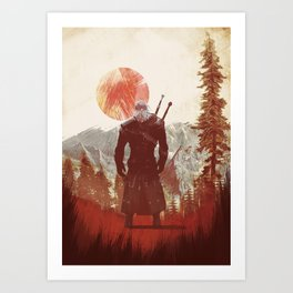 The Witcher Geralt variation print Art Print