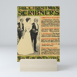 the christmas scribners. 1899  oude poster Mini Art Print
