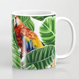 tropical leaves macaw pattern Coffee Mug