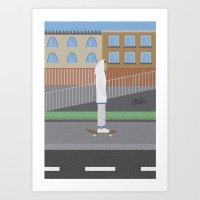 skate Art Prints featuring Skate by Bastodesign