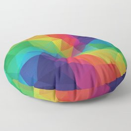 Colorful polygonal background Floor Pillow
