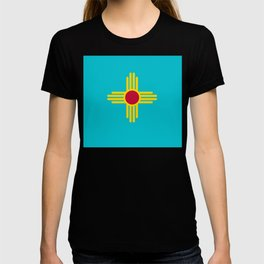 New Mexico Flag Turquoise  T-shirt