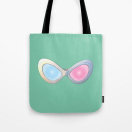 Blue and Pink Cat Eye Glasses Tote Bag
