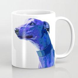 Greyhound. Blue dog Pop Art portrait. Hunting dog. Coffee Mug