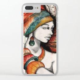 Africa Mandala Clear iPhone Case