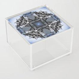 TWO WINDSWEPT DOUGLAS FIR ON THE SHORELINE Acrylic Box