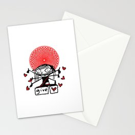 little lakshmi give love valentine Stationery Cards