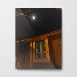 Of Moonbeams And Glassblock Windows Metal Print