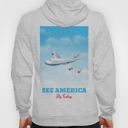 See America - Fly today! Poster Hoody