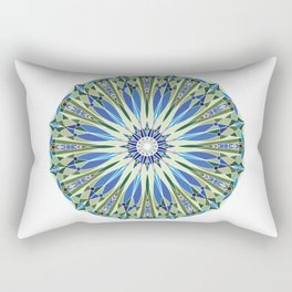 Deco Mandala - Ocean Palette  Rectangular Pillow