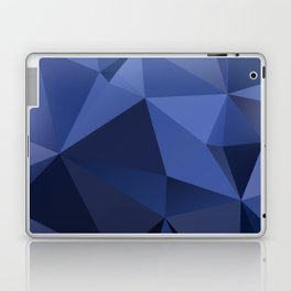 Abstract of triangles polygon in navy blue colors Laptop & iPad Skin