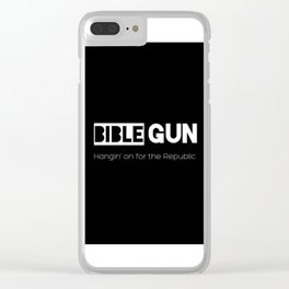 HANGIN' ON FOR THE REPUBLIC2 Clear iPhone Case